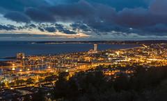 'A Golden Twilight' - Swansea Bay (Kristofer Williams) Tags: city urban cityscape landscape swansea wales southwales twilight bluehour kilveyhill swanseabay