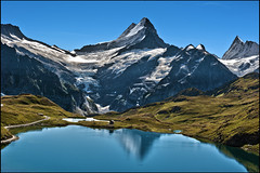 Grindelwald ,The Bachalpsee  A view to the Wetterhorn & the Finsteraarhorn  .No.9093. (Izakigur) Tags: wetterhorn berneroberland alps alpes izakigur dieschweiz d700 nikkor nikond700 nikkor2470f28 reflection lac bachalpsee grindelwald bern bf fixyou coldplay trift