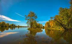 REFLECTIONS OF AUTUMN (SAFIRE PHOTO) Tags: ottawa water autumn colour color reflection trees river lake safire safirephoto sky landscape outdoor