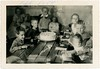 Haunted Birthday Party, Sept. 1955 (Alan Mays) Tags: ephemera photographs photos foundphotos snapshots doubleexposures children boys women men clothes clothing shirts patterns birthdays celebrations parties events singing happybirthday birthdaycakes cakes food candles interiors tables doubles ghostly ghosts spirits spooky haunting haunted mysterious strange unusual flawed serrated edges borders september 1955 1950s antique old vintage vptp