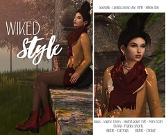 "LB # 35 ""Wiked Style"" ((iwiked residents)) Tags: blues emery evani momento biride lookbook secondlife belleza slblog avatar fashion autumn vibe trees"