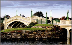 The Venitian Bridge (* RICHARD M (Over 5 million views)) Tags: venetianbridge southportsvenetianbridge bridges engineering water october autumn southport resorts seaside seasideresorts holidayresorts arches sefton merseyside lamps streetlights streetlamps lampposts balustrades rocks