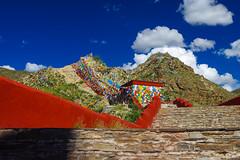 stairway to heaven (kangxi504) Tags: tibet china prayerflag darchor yumblagang