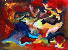 Abstract Painting (Assaf Shtilman) Tags: abstract art painting paper early acrylic young highschool age 16