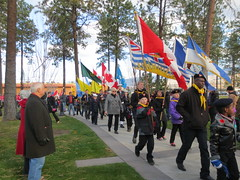 Here come the Scouts (jamica1) Tags: park november canada day bc okanagan columbia flags scouts service british kelowna rutland 11th remembrance cadets 2014