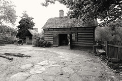 Miksch Grounds - Circa 1771 (rschnaible) Tags: old bw usa white black history gardens work vintage photography early us south north colonial sightseeing shed monotone tourist historic southern american carolina destination times salem circa grounds 1771 miksch 17