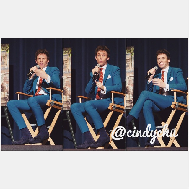 The many faces of EDDIE REDMAYNE! Had such a blast at the #theoryofeverything screening for @sagaftra today w/live Q&A with #eddieredmayne!  #actresslife #focusfeatures #british #losangeles #hollywood #cutie #harmonygold #actors