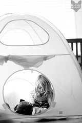January 12 : New Clubhouse (RachelBrandtPhotography) Tags: blackandwhite bw playing girl kid child play sandiego documentary lifestyle tent blond blonde everyday clubhouse sandiegochildphotographer sandiegochildphotography sandiegofamilyphotography sandiegofamilyphotographer rachelbrandt rachelbrandtphotography