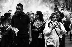Shells in Smoke (snarulax) Tags: street city november portrait shells white black blanco students fog mexico march calle df retrato smoke negro protest shell noviembre 20 concha humo journalism conchas 43 periodismo marcha estudiantes ayotzinapa 20novmx