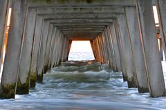 Light at the end of the Tunnel (TtownStudios) Tags: ocean camera light favorite sun beach water sunrise landscape golden pier still nikon yeah like tunnel awsome hour fav rise blurr epic peir d5200