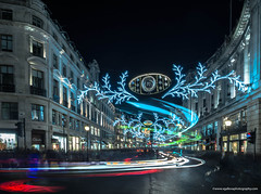 Regent Street Christmas lights (vgallova) Tags: road christmas street xmas city uk longexposure travel blue winter light england london car night shopping season outside lights evening holidays traffic bright dusk seasonal decoration scene regentstreet business event gift shops editorial british regent highstreet trafic shoppingstreet lighttrials regentstreetchristmaslights vgallova coverscomp
