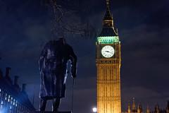 Greatest Briton (mattrkeyworth) Tags: london westminster night zeiss nacht britain bigben parliamentsquare winstonchurchill nuit palaceofwestminster ivorrobertsjones mattrkeyworth sonya7r sel55f18z sonnartfe1855