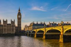 London Postcard (Tim Cambridge) Tags: new city travel bridge blue england sky building london eye tower glass weather thames architecture skyscraper plane big perfect open ben year capital
