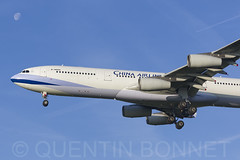 China Airlines Airbus A340-313 B-18805 (Quentin Bonnet - AeroWorldPictures) Tags: amsterdam schiphol ams eham