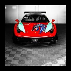 Ferrari 458 Italia Racer Dragon Racing team (Fortunes2011. Re start) Tags: red racecar graphics italia dragon details ferrari decals racer spoiler selectivecolor carart 458 redferrari dragonracing ferrarired chinspoiler squaresquareformat5x555nikonconeptualimagesgoogleimagesyahoo fortunes2011nikon autodrome2