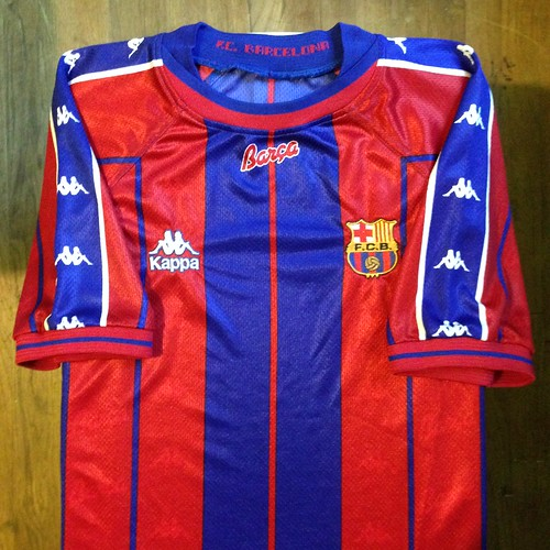 buy online 3f585 8f9a4 1997-1998 FC Barcelona Home Jersey - a photo on Flickriver