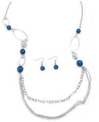 Glimpse of Malibu Blue Necklace P2710A-3