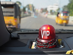 Red VIP Sign Light Drive India Dashboard Tamil Nadu Indien (c) (hn.) Tags: road street copyright india sign drive asia asien heiconeumeyer tn indian vip dashboard indien tamilnadu fahren southindia southasia copyrighted 2014 in indisch armaturenbrett strase sdindien sdasien vipsign viplight tp201415