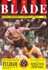 Sheffield United vs Fulham - 1988 - Cover Page (The Sky Strikers) Tags: family club sheffield united arnold review lane fulham blades laver bramall
