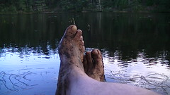 Barefoot in lake (bfe2012) Tags: boy lake feet nature wet forest woodland freedom toes hiking indian dirty dirt swamp barefoot barefeet marsh tough marshland anklets barefooted muddyfeet barefooting dirtyfeet barefoothiking barefooter baresoles