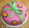 Hearts & Stars Birthday Cake