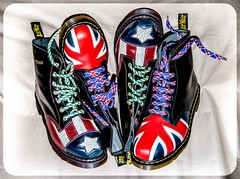 Union Jack or Con-Gress Dr Martens. (CWhatPhotos) Tags: pictures uk original light red usa man men feet leather yellow america that cherry stars jack photography boot foot photo foto with hole boots photos dr stripes union picture 8 style wear have congress mans doctor american footwear fotos worn mens stitching z comfort sole doc limited edition gress cushion marten which soles dm con docs contain compare drmartens bouncing airwair docmartens welt martens dms 1460 drmarten vdm cushioned verus bouncingsoles 1460s yellowstitching cwhatphotos vdmsole