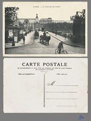 PARIS - Le Pont du Carrousel (bDom) Tags: paris 1900 oldpostcard cartepostale bdom