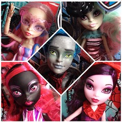 A bunch of new dollies :p (MyMonsterHighWorld) Tags: party vacation love monster high swan doll noir royal du nightshade roque and after gloom ever mattel amanita rochelle duchess in catty gorgon 2015 goyle garrott viperine londoom scaris elissabat ghoulebrities
