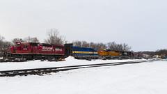 Railroad Identity Crisis (mtuswan) Tags: railroad train ns canadianpacific hastings sooline cp soo mn bnsf dme norfolksouthern burlingtonnorthern canadianpacificrailway burlingtonnorthernsantafe dakotaminnesotaeastern