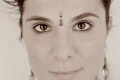 Surya Namaskara (BJo - o ) Tags: new portrait people italy woman sun india eye art yoga portraits photography photo eyes italian artist quote indian year marta meditation tradition sole emotions ritratto surya ragazza saluto namaskara suryanamaskara salutoalsole