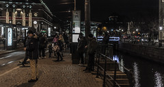 Tram station (Henka69) Tags: street people night gteborg 50mm publictransit publictransportation gothenburg streetphoto publictransport canon6d