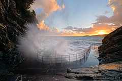 The wave (Maurizio Fontana) Tags: sunset sea italy storm water landscape nikon italia tramonto mare liguria wave acqua paesaggio d800 onda zoagli tigullio mareggiata