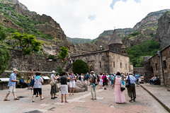 Geghard Monastery (Dr. Harout) Tags: history tourism church zeiss ancient sony religion tourists christian monastery armenia apostolic carlzeiss geghard    batis225  ilce7rm2 distagon225t
