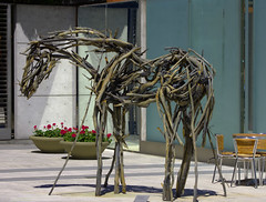 Wooden Horse (swong95765) Tags: wood branches horse art sculture standing courtyard artistic crafted display driftwood depiction