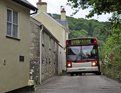 A tight squeeze (geoff7918) Tags: alexander seaton branscombe dennisdart r454fvx 17062016 899sidmouth