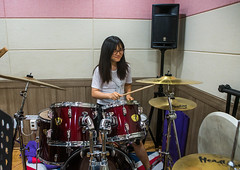 North korean teen defector in yeo-mung alternative school playing drums, National capital area, Seoul, South korea (Eric Lafforgue) Tags: music woman rock horizontal youth fun drums sticks student energy asia play exercise refugee young indoors teen seoul teenager drummer perform activity jam southkorea youngadult adolescent loud enjoyment rockin oneperson defector 1819years northkorean 1617years waistup 1people nationalcapitalarea colourpicture koreanethnicity sk162364