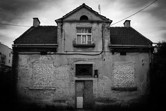 Among survivours (salahudin's paragnomen) Tags: street old city light urban house architecture dark darkness decay tags structure creepy forgotten damage gloom shape krakw destroyed krakoff