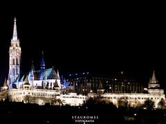 Bastin de los Pescadores - Budapest (Stauromel) Tags: matias iglesia bastindelospescadores nocturna budapest buda hungria stauromel skyline canon1dmarkii alquimiadigital arquitectura melilla