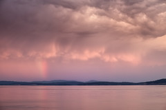 summer storm (salalstudio) Tags: summer storm pacificnorthwest britishcolumbia seascape rainbow ocean clouds sky 1855mm xt1 fujifilm