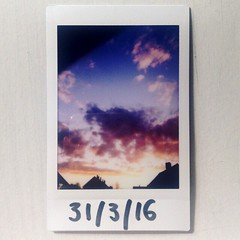 Sunset sky (franhinchliffe) Tags: sky analogue instaxmini90 fujifilminstaxmini90 fujifilminstax fujifilm polaroid filmphotography photography film