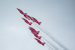 RIAT 2016 - Red Arrows (Harry_S) Tags: riat 2016 royal international air tattoo nikon d750 nikkor 200500mm f56 vr aviation airshow uk fairford raf red arrows hawk