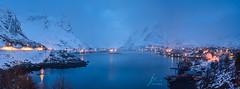 Foggy Reine (Jingshu Zhu) Tags: seascape landscape nightscapes fog lofoten norway reine sony snow panorama panoramic