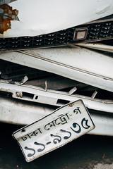 Untitled Dhaka, June, 2016 (Navid Nooren) Tags: car vintage accidents toyota dhaka bangladesh numberplate