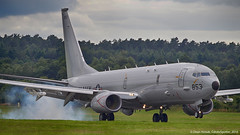 USN P-8A Landing (CdnAvSpotter) Tags: us aircraft navy maritime boeing poseidon farnborough 2016 mma p8a multimission