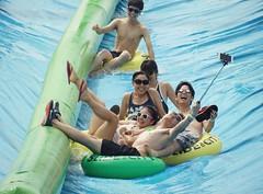 Summer fun (Kim's Pics :)) Tags: people waterslide summer fun group smiling laughs camera video tubes water slide wet fast splash slidethecity sunglasses bathingsuits selfiestick headingley manitoba canada