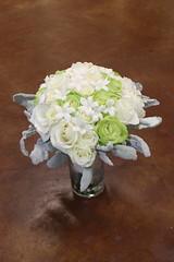 Green & white bouquet (The Blooming Idea) Tags: bridalbouquet wedding stephanotis roses greenwhite