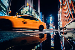 Night in NYC (konstantinkulak) Tags: night cityscape times square nyc taxi car street