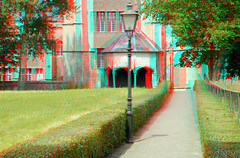 Veere 3D (wim hoppenbrouwers) Tags: veere 3d anaglyph stereo redcyan grote kerk cisterne waterput