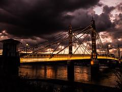 DSCF3559 (Cproland1986) Tags: london uk thames battersea bridge sunset clouds