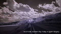 Summer Day Today (ntemptm) Tags: beauty clouds sky cloudporn day highway infrared infraredphoto landscape mountain nature naturelover nopeople nonurban outdoors road scenic sunporn tranquility nd longexposition outdoor wonderful ir
